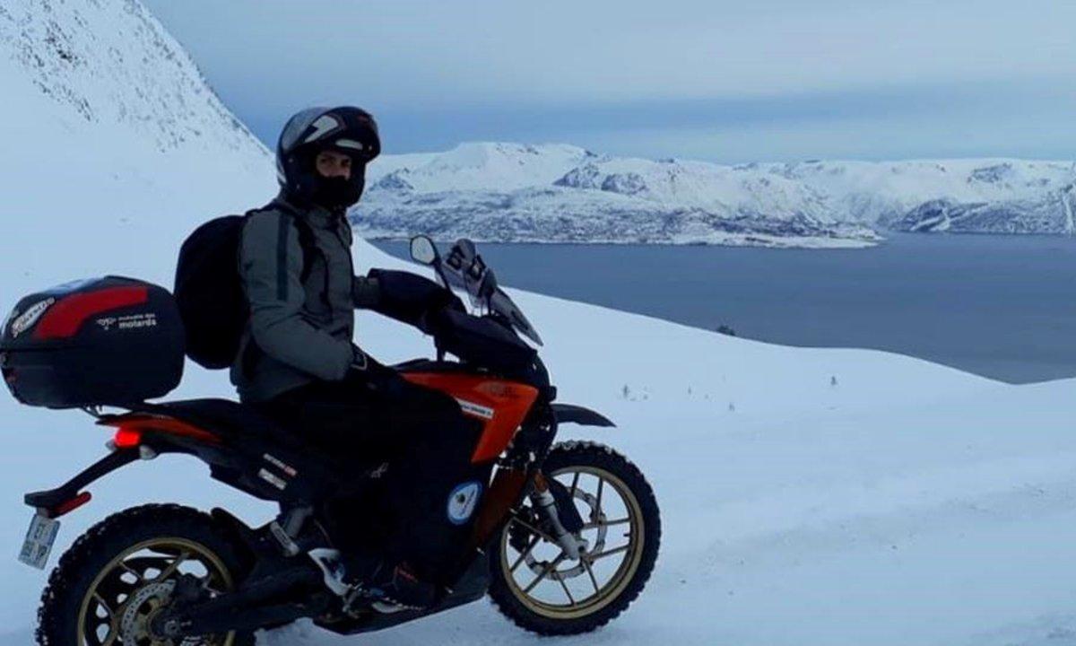 Med elmotorsykkel til Nordkapp – midtvinters!