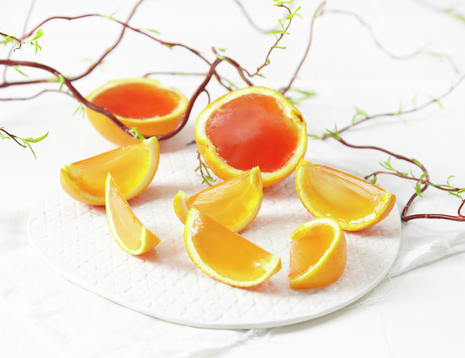 Appelsiner i båter med gelé