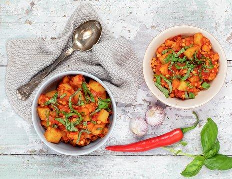 Indisk gryte med poteter