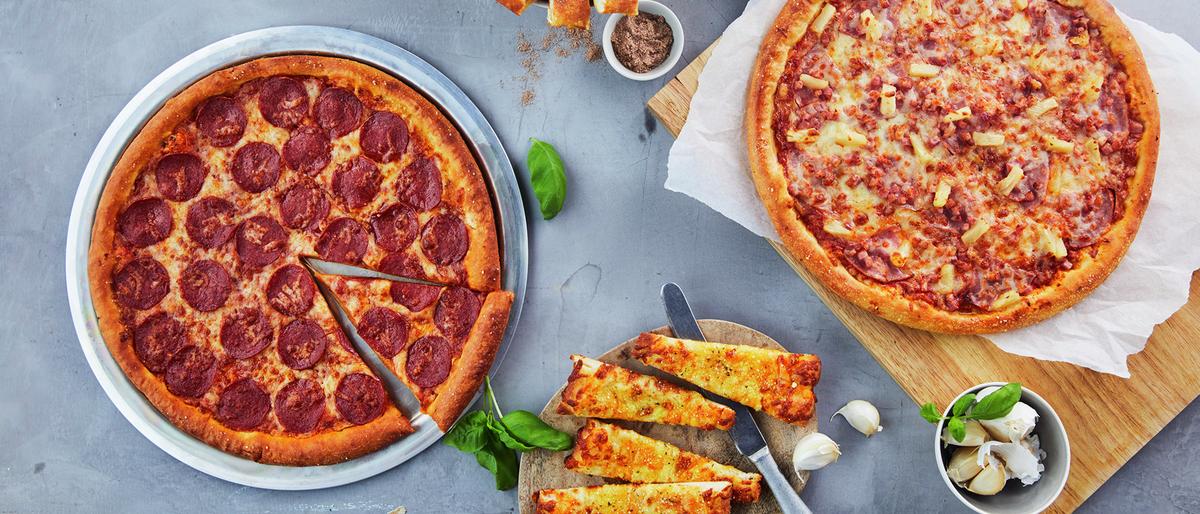 Pizza fra Domino's elektrisk levert