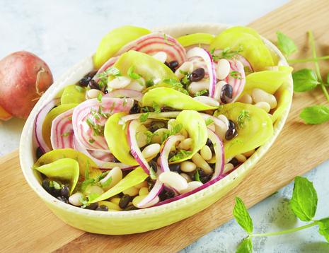Salat med bønner og beter