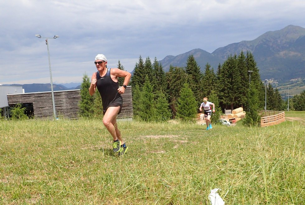 Andreas Vannebo i Monsterbakken i Cavalese i Val di Fiemme, Dolomittene, Italia