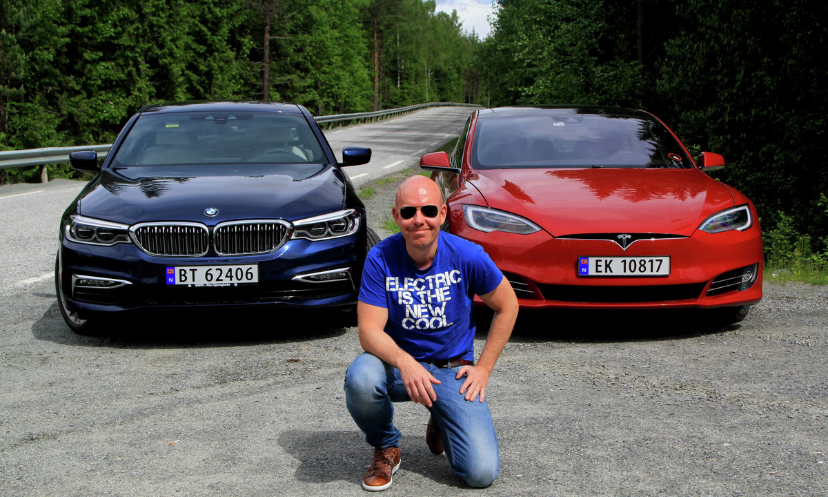 Duelltest: Ladbar BMW 530e mot Tesla Model S