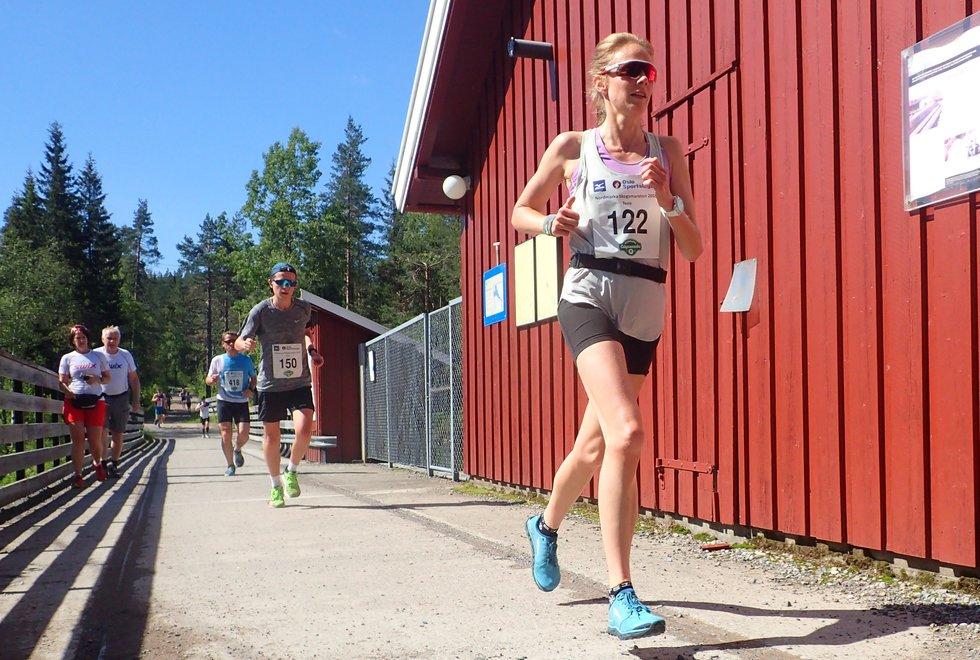Tone Fløttum i Nordmarka Skogsmaraton 2019
