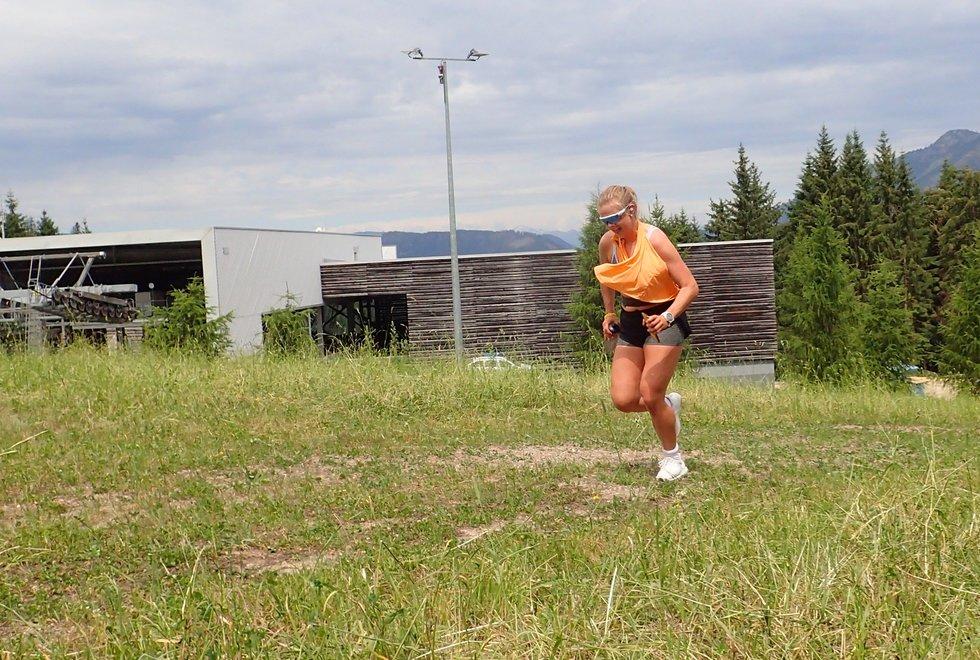 Margaretha Nijs Skaar i Monsterbakken i Cavalese i Val di Fiemme, Dolomittene, Italia