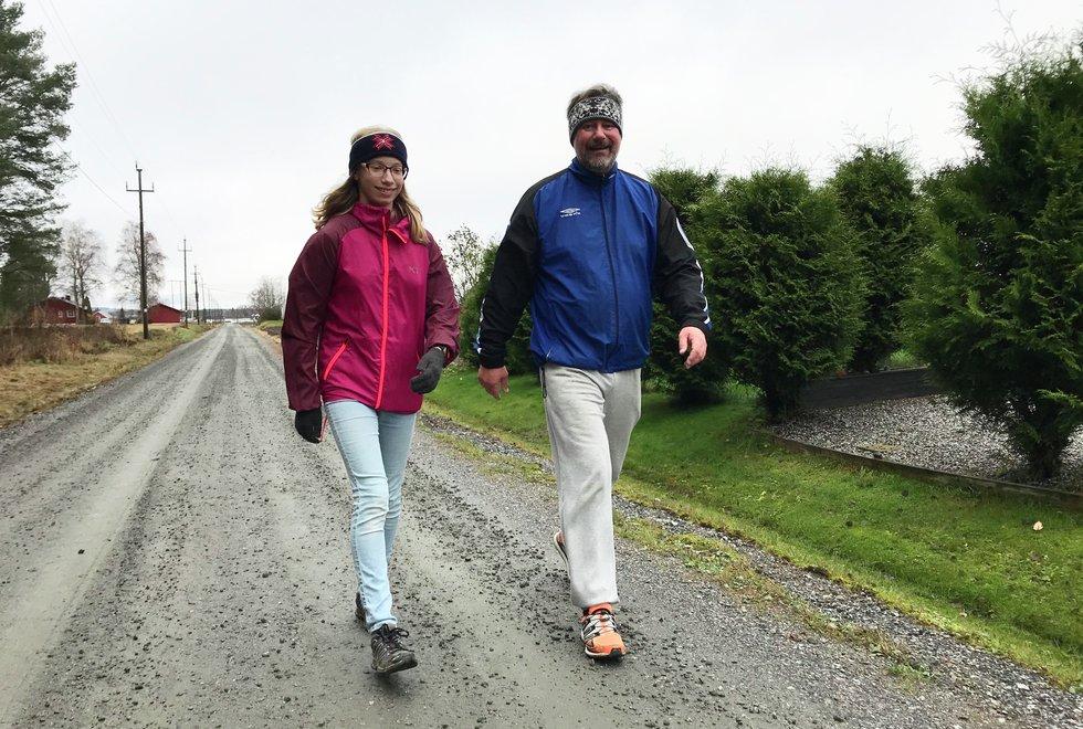 Caroline Selbæk og Tor-Odd Selbæk, Kondistreninga Årnes arrangerte Kondisløpet 31. oktober 2020