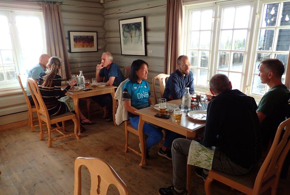 Matsalen på løpesamling for Kondis på Ilsetra august 2020