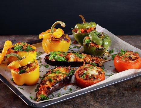 Bakte og fylte grønnsaker