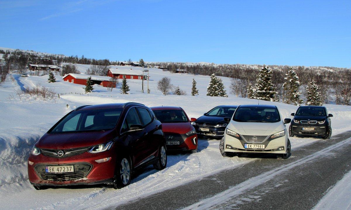 Stor test: Vinterens vakreste elbileventyr