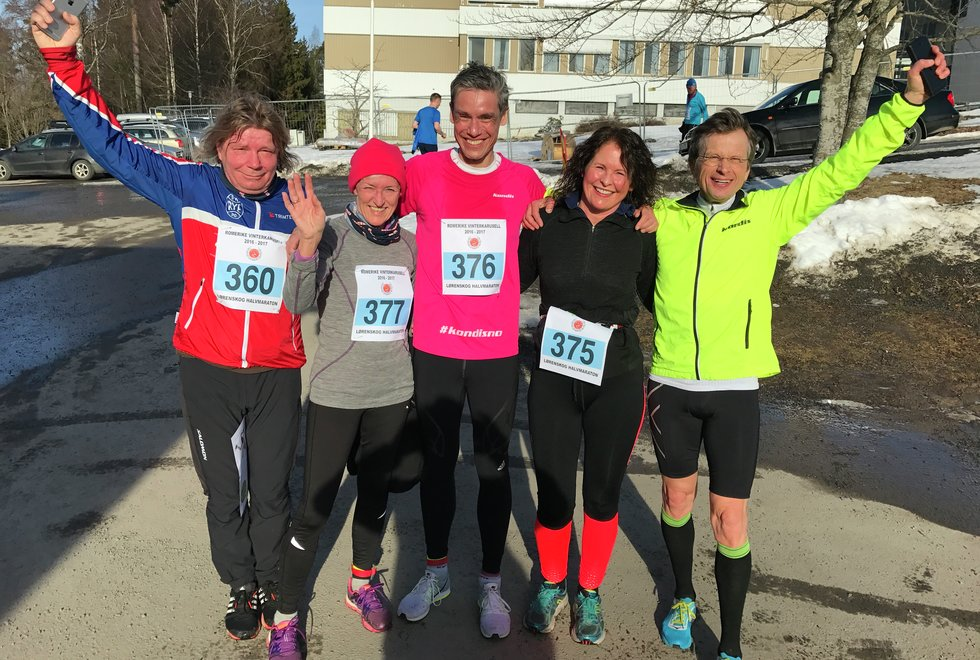 Kondisgjengen etter å ha løpt Vinterkarusellen Romerike 10. løp