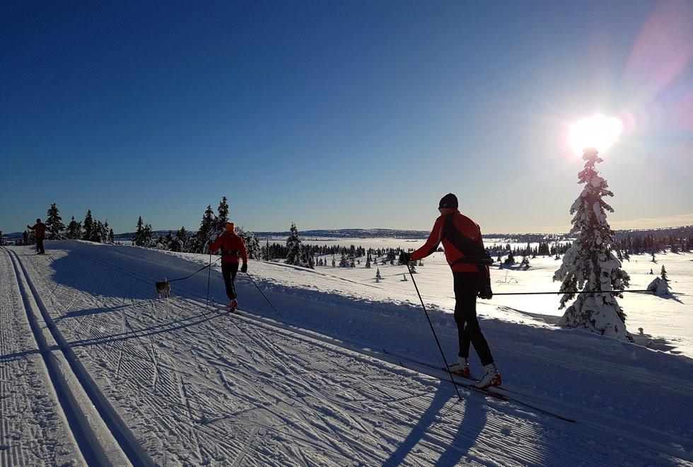 Skitur i kulde ved Pellestova på Hafjell