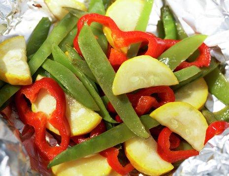 Grillede grønnsaker i folie