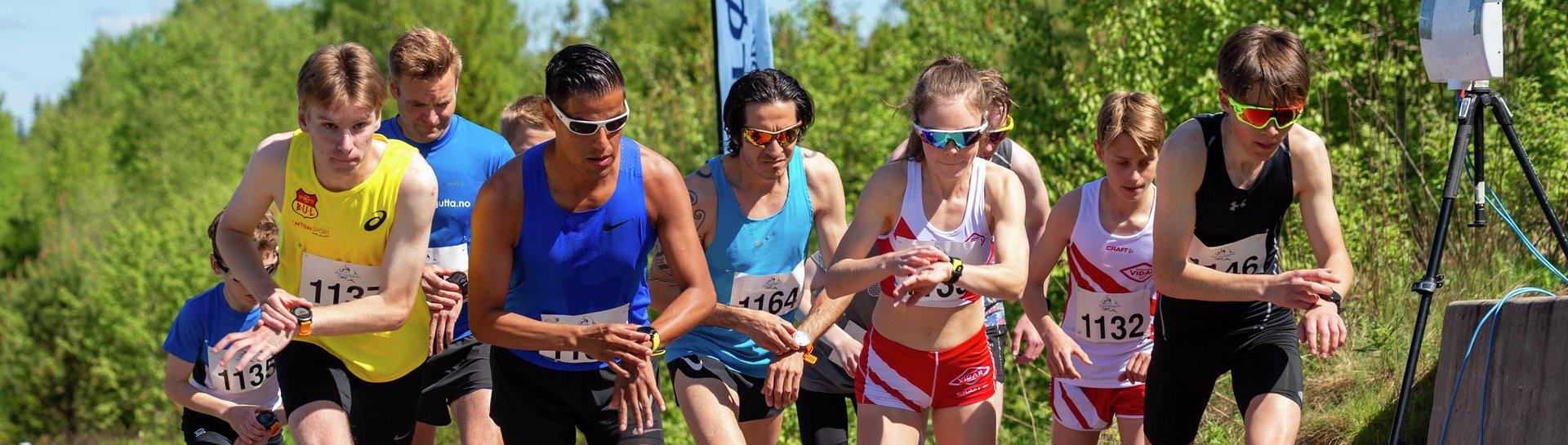 Perseløpet 5km - Jørgen Russnes, Emilie Mo, Fredrik Halsbog, Rodrigo Belda