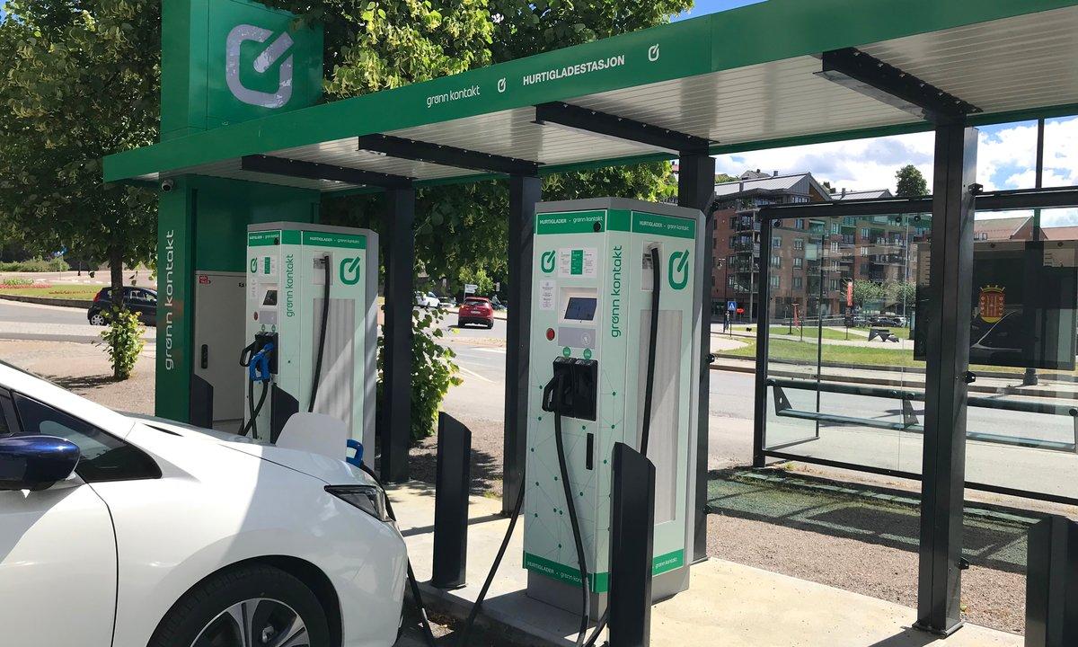Grønn Kontakt endrer pris for hurtiglading