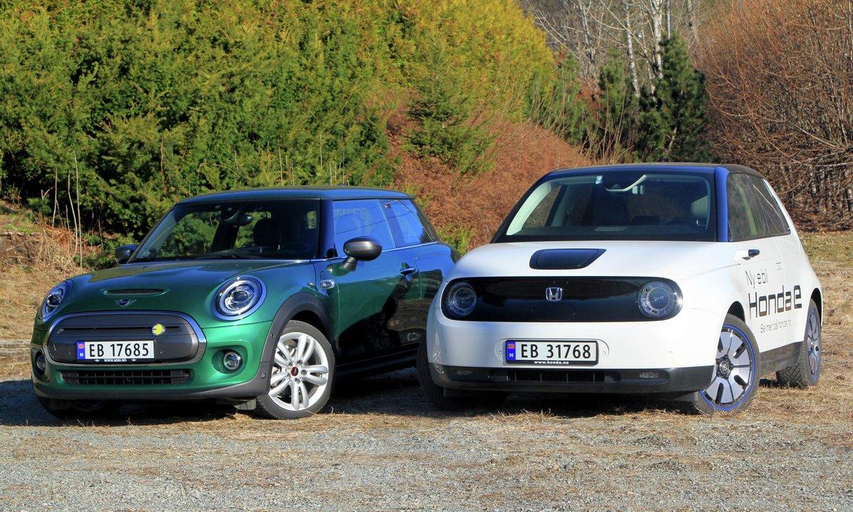 Duelltest: Mini og Honda – like store, men svært ulike