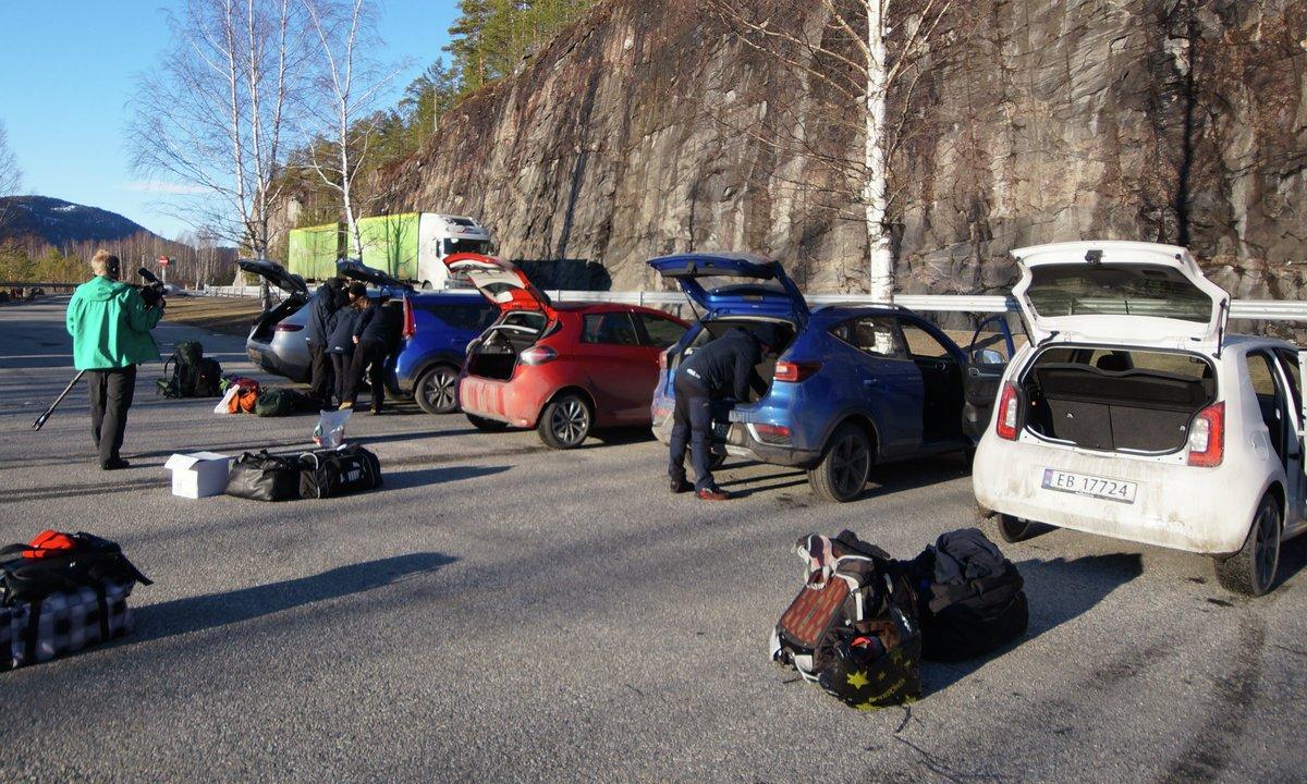 Pass på vekta: Mange elbiler kan ikke alltid ha noe i bagasjen