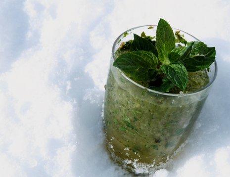 Mojito virgin i snøen