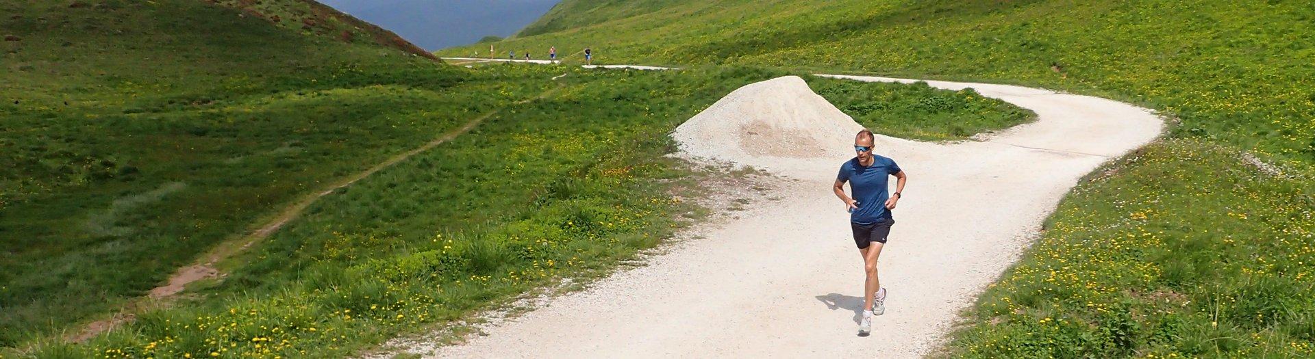 Stein Kamfjord Andersen på Kondistur fra Passo Rolle til Passo di Valles i Dolomittene i Italia