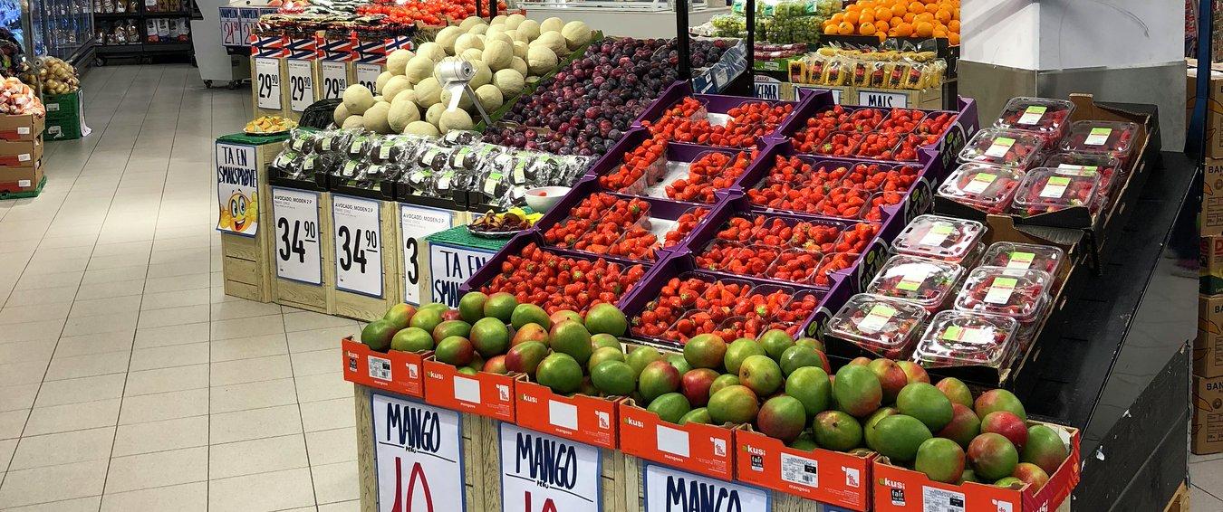 NM i frukt og grønt, frukt- og grøntavdeling