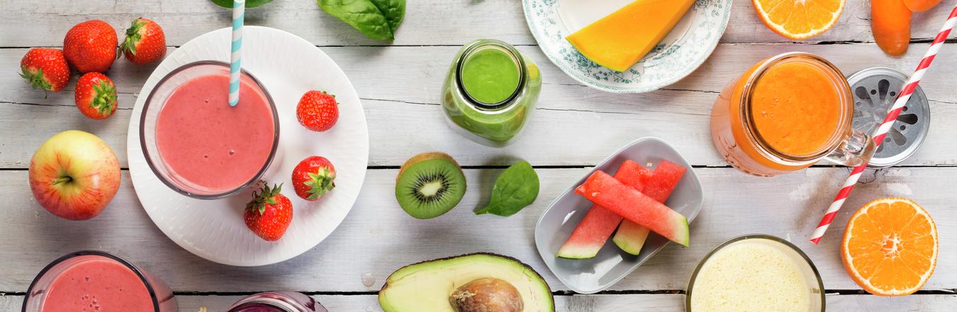 Oppslagsbilde smoothie  - fra boken Førsteklasses mat
