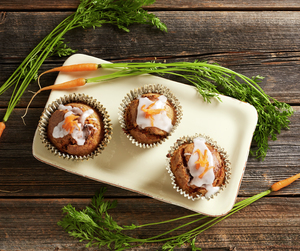 Grove gulrotmuffins - smaksrike, fiberrike og holdbare.