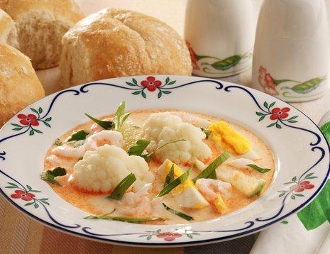tallerken med suppe