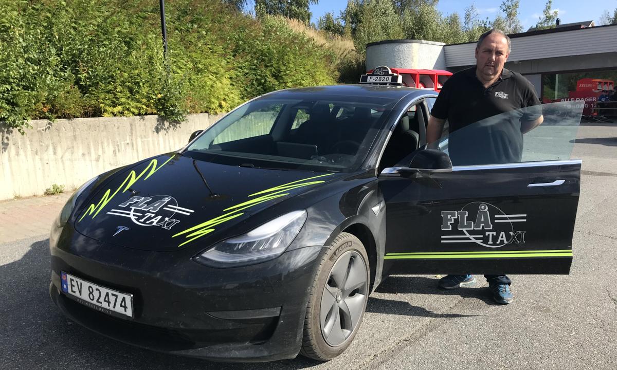 Første elektriske taxi på bygda?