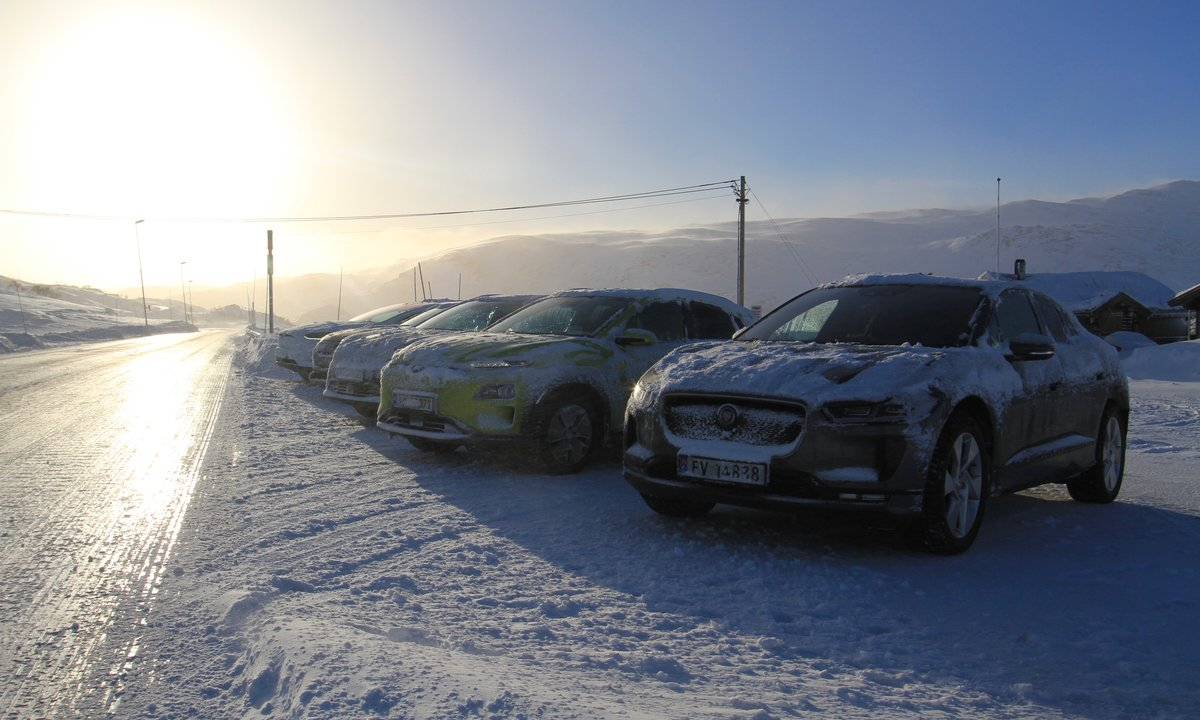 Stor vintertest: Nær 900 kilometer med fem høyreiste elbiler