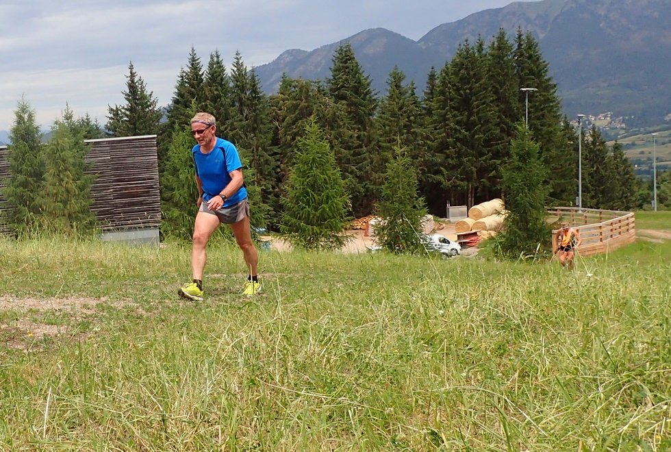 Ole Kristian Moen i Monsterbakken i Cavalese i Val di Fiemme, Dolomittene, Italia