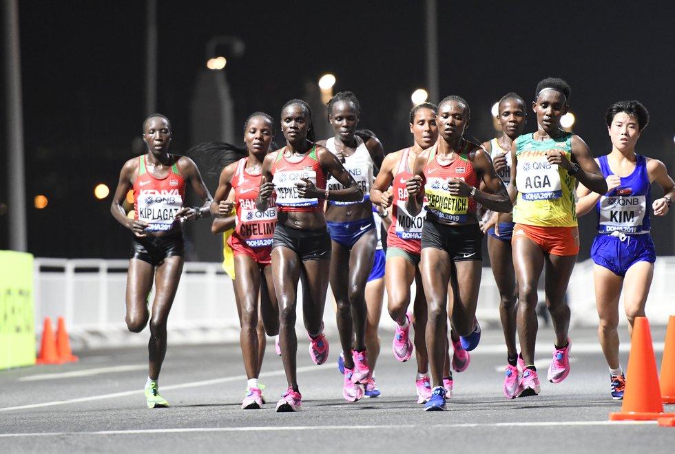 VM friidrett 2019 Doha - Visiline JEPKESHO - Ruth CHEPNGETICH - Ruti AGA - maraton