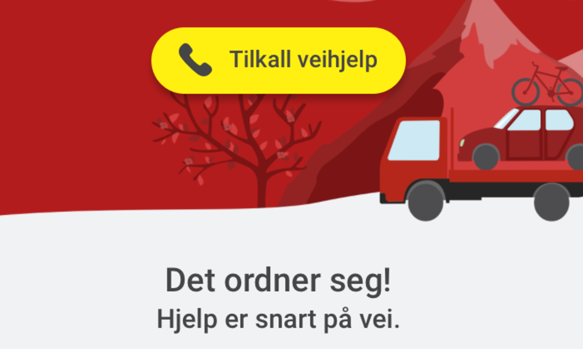 Nå kan du tilkalle veihjelp rett i ElbilAppen