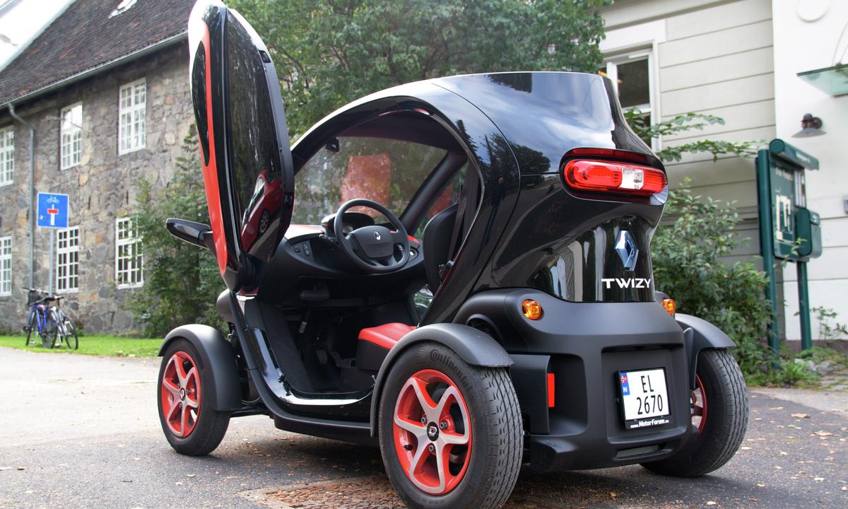 En Renault twizy omfattes av den svenske støtten