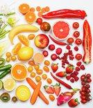 Fargerike frukt, bær og grønnsaker