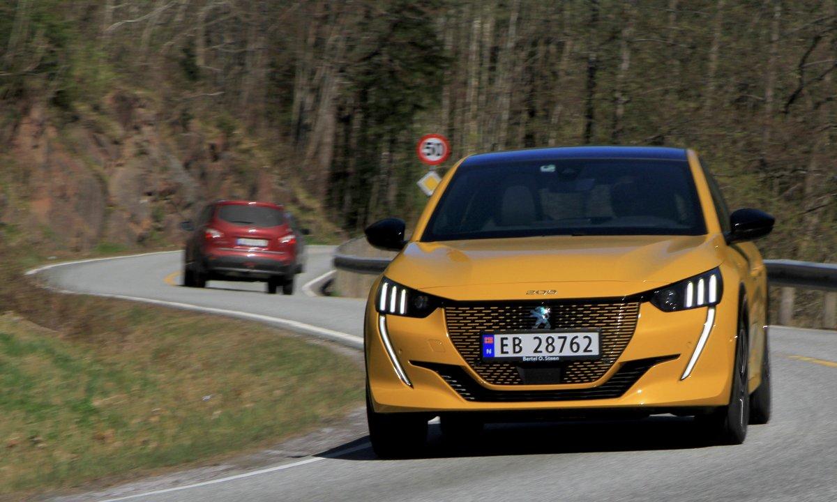 Test av Peugeot e-208 GT: Lader kvikkest i klassen