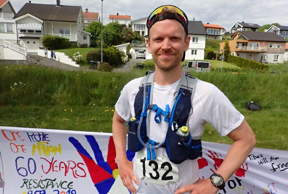 Kim Launy i Tretoppsløpet på Jeløya 2019