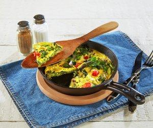 Rosettkål i omelett