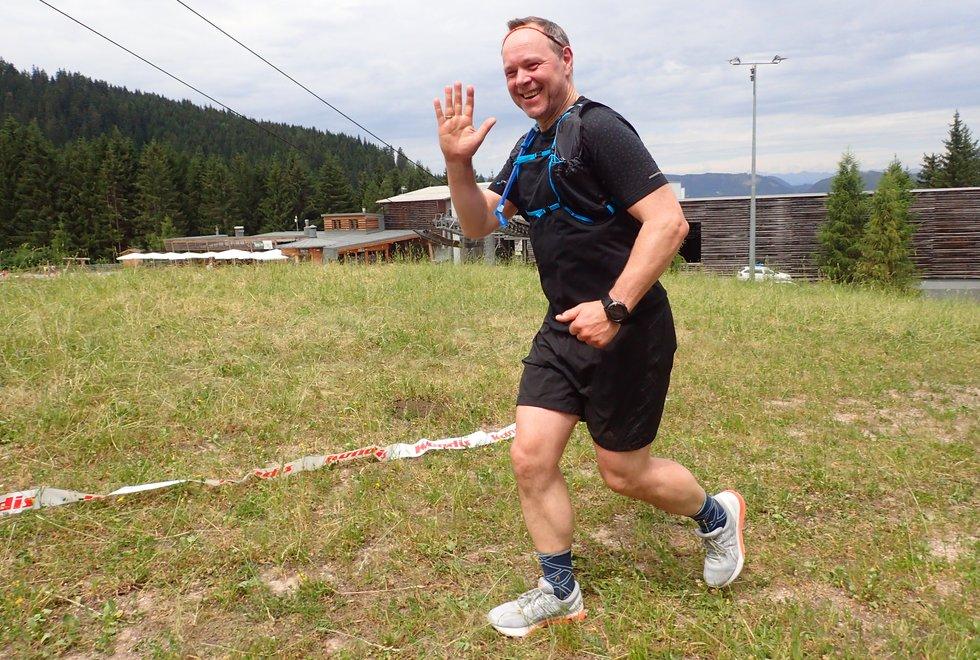 Roger Barsnes i Monsterbakken i Cavalese i Val di Fiemme, Dolomittene, Italia