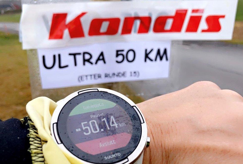 50,14 km er ultralangt og godkjent ultradistanse, Kondistreninga Årnes arrangerte Kondisløpet 31. oktober 2020