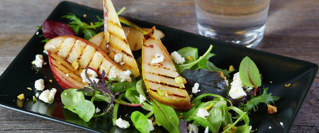salat med pærer, pæresalat, norske pærer
