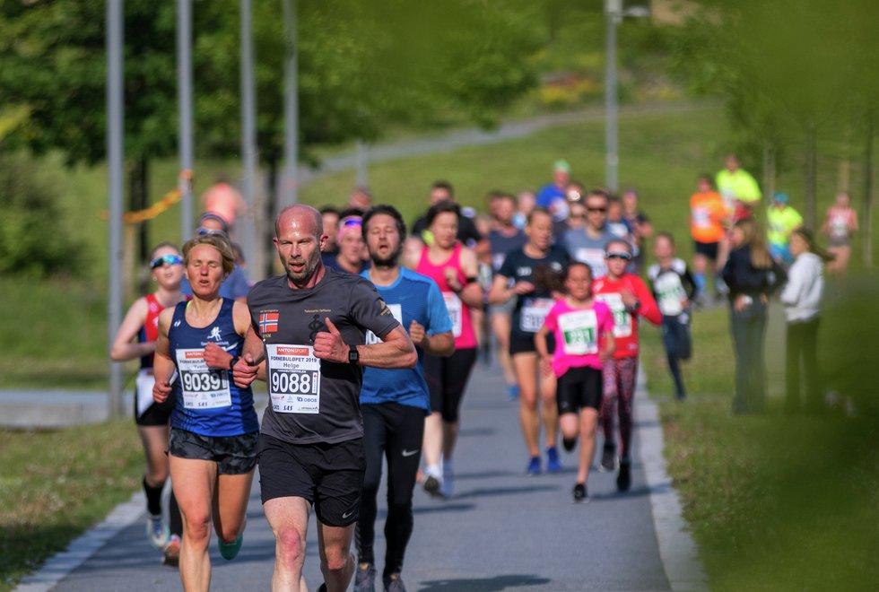 Bildet er fra Fornebuløpet i mai 2019, nå er det duket for ny løpsfest i september 2021.