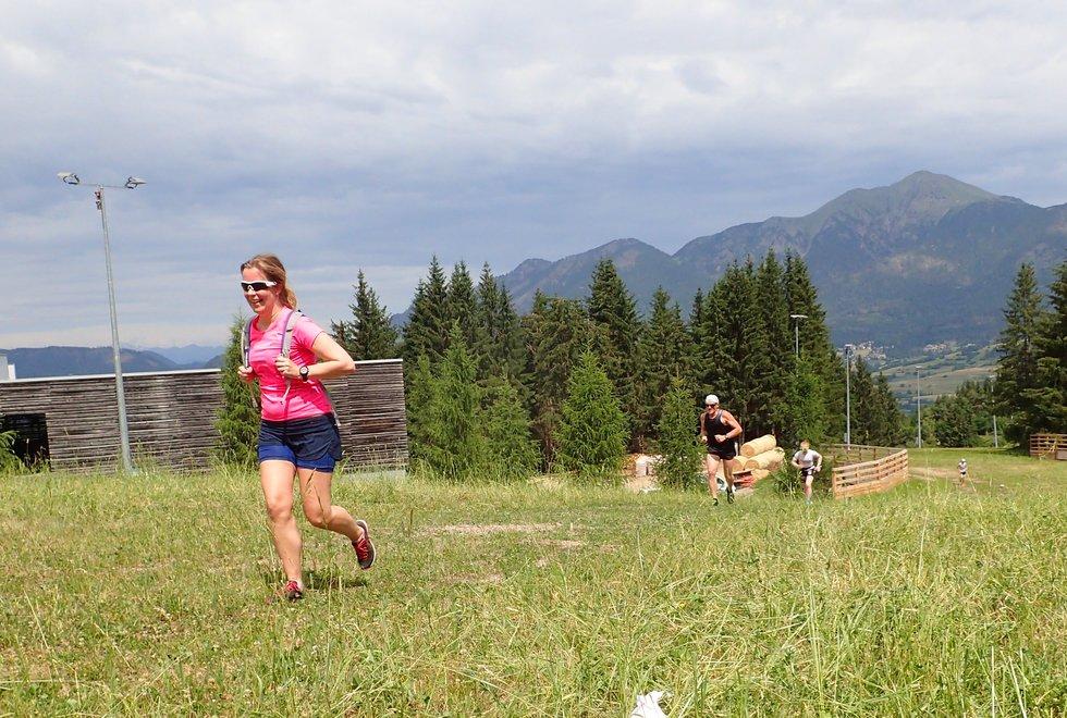 Tone Iren Sørheim ble beste kvinne opp den 3 km lange Monsterbakken i Cavalese i Val di Fiemme, Dolomittene, Italia
