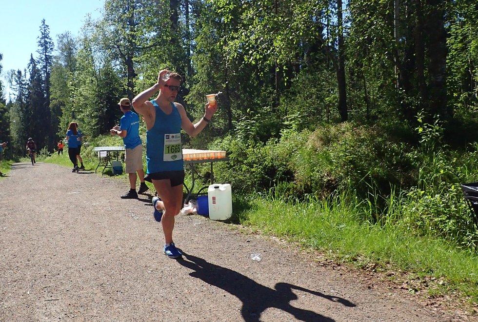 David Andre Aasen kom på tredjeplass under Nordmarka Skogsmaraton 2019