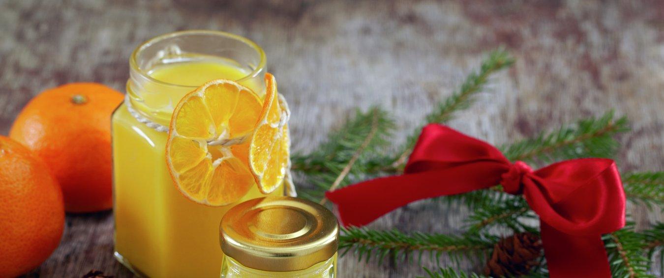 Glass med sitron- og klementinkrem