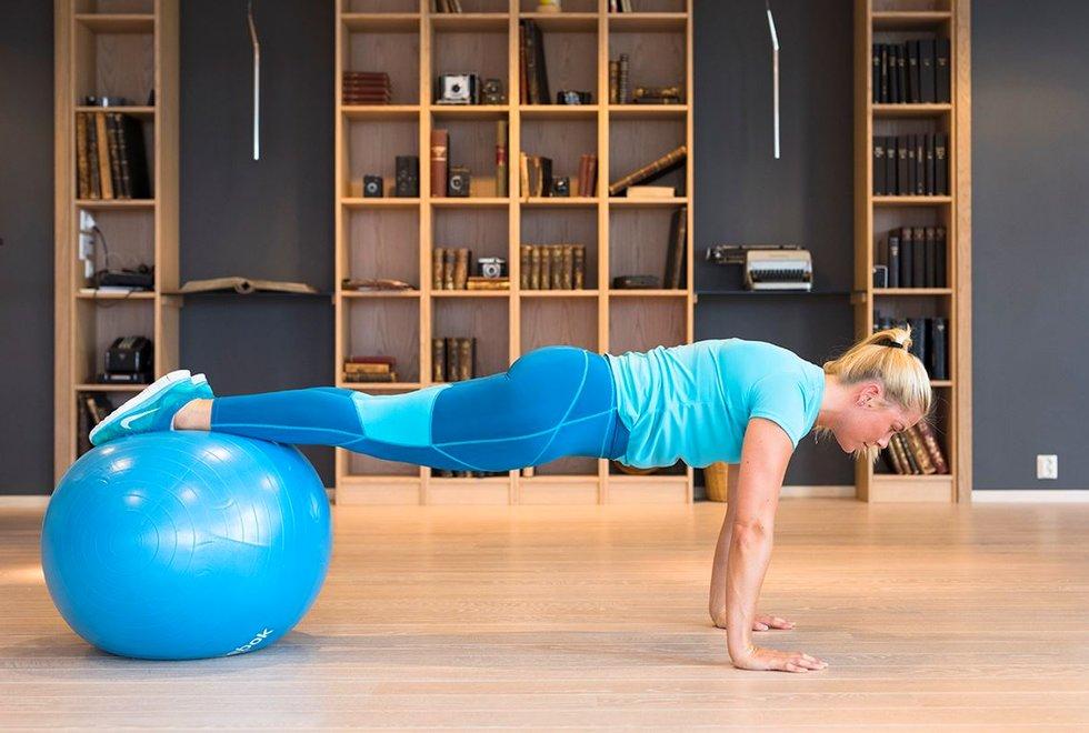 Trening med gymball - fitnessball