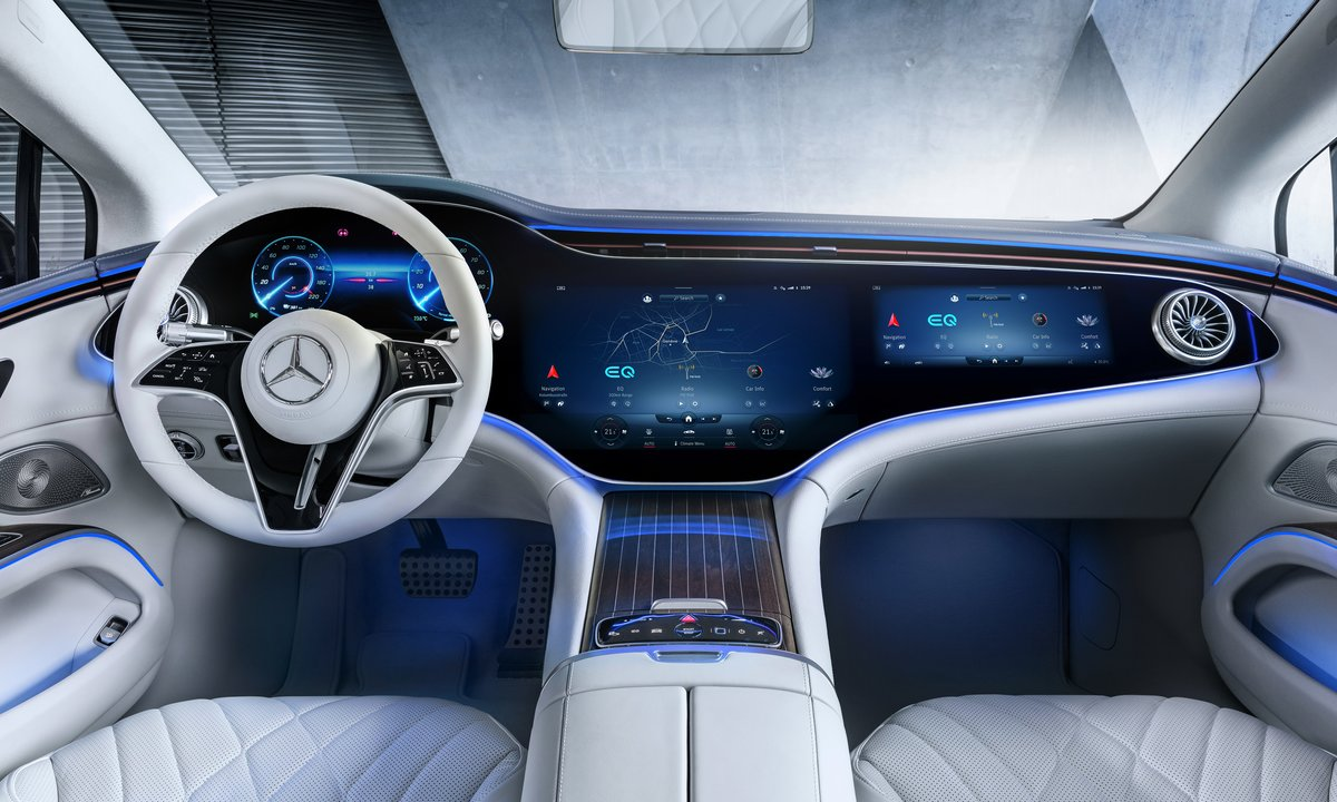 Slik blir Mercedes EQS – verdens første elektriske luksusbil