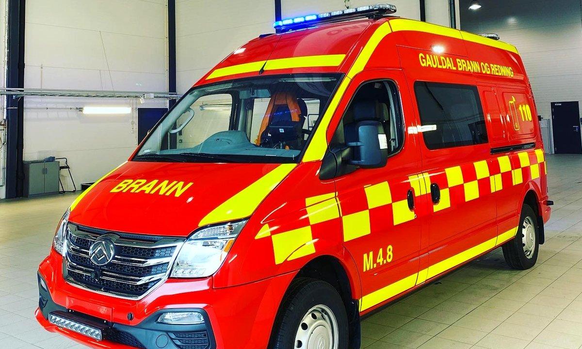Elektriske evakueringsbiler på vei inn i norske tunneler