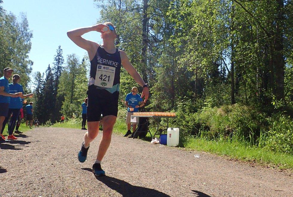 Anders Høst vant halvmaraton under Nordmarka Skogsmaraton 2019