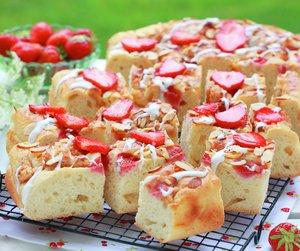 Jordbær focaccia på rist